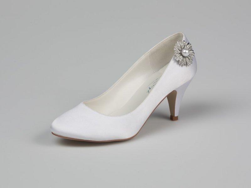 AceShoes - Esküvői cipő szatén 8186abf9b7
