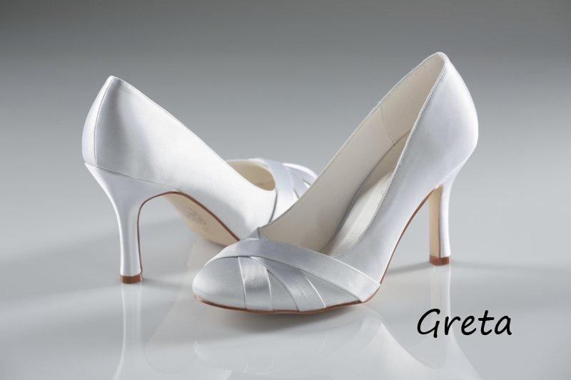 AceShoes - Esküvői cipő szatén 287a792f13